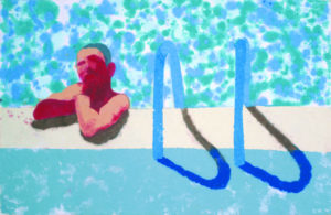 "David Hockney's Artwork ""Gregor in the Pool"" (1978)"