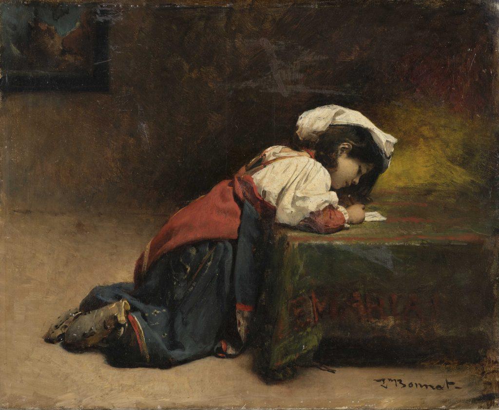 Leon Bonnat Kirjoittava tyttö